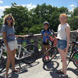 <p>The writer (front) during a bike ride with her family. // © 2017 Claire Howes</p><p>Feature image (above): The Montreal Clock Tower is located in...