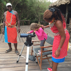 <p>Samara, the writer's daughter, learned about local animals and Kenyan culture. // © 2017 David DiGregorio</p><p>Feature image (above): She...