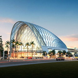 <p>The newly opened Anaheim Regional Transportation Intermodal Center helps visitors get around town with ease. // © 2015 Anaheim Regional...