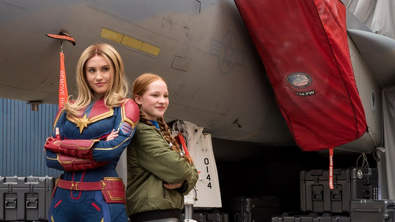"Captain Marvel inspires guests to go ""Higher, Further, Faster."""
