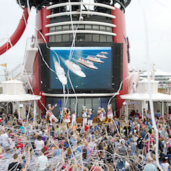 <p>Disney Cruise Line announced its new ships during a sail-away party onboard Disney Magic. // © 2016 Disney Cruise Line</p><p>Feature image (above):...