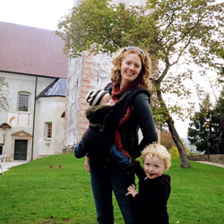 <p>The writer with her two sons in Bled, Slovenia // © 2015 Keryn Means</p><p>Feature image (above): According to Keryn Means, it's not impossible to...