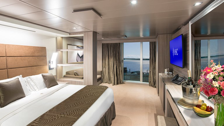 Seaside offers connecting staterooms for families.