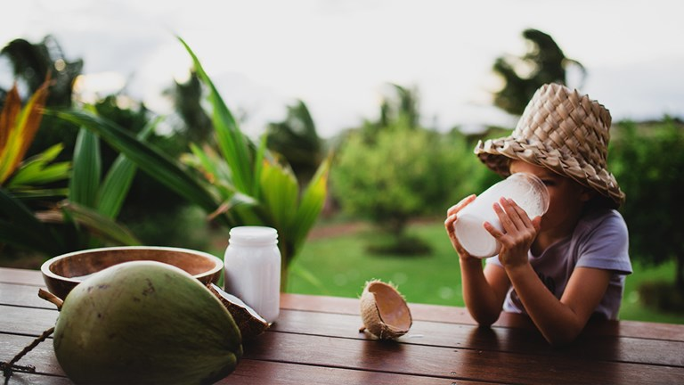 Make and sip your own coconut milk at Maui's Punakea Palms.