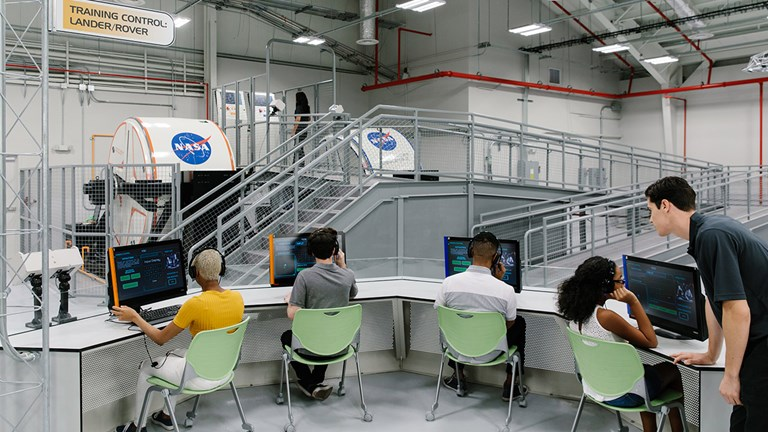 At Kennedy Space Center, families can participate in the new Astronaut Training Experience.