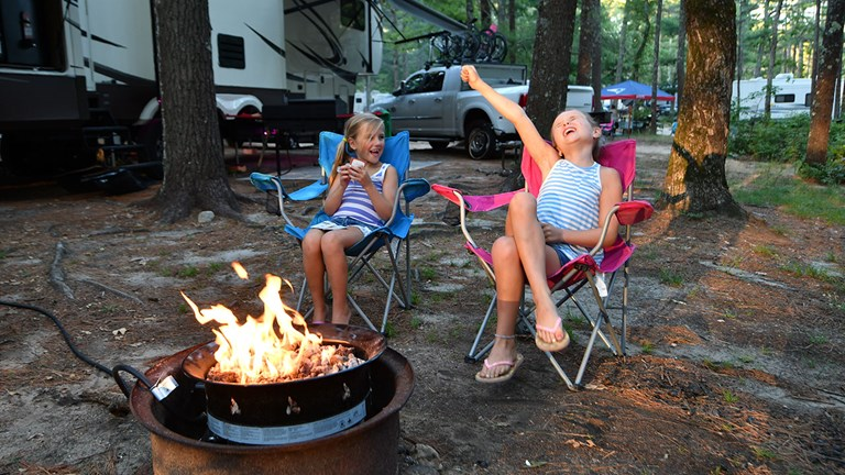 It can be easy to socially distance at campgrounds.