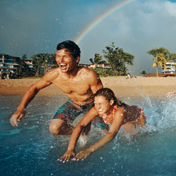 <p>Panelists agreed that learning something new, such as a watersport, is popular among family travelers. // © 2015 Honua Kai Resort &...