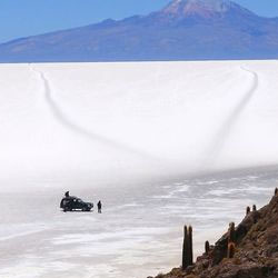 A customized trip to the salt flats of Bolivia with Jacada Travel includes a driver and a chef.  // © 2014 Jacada Travel