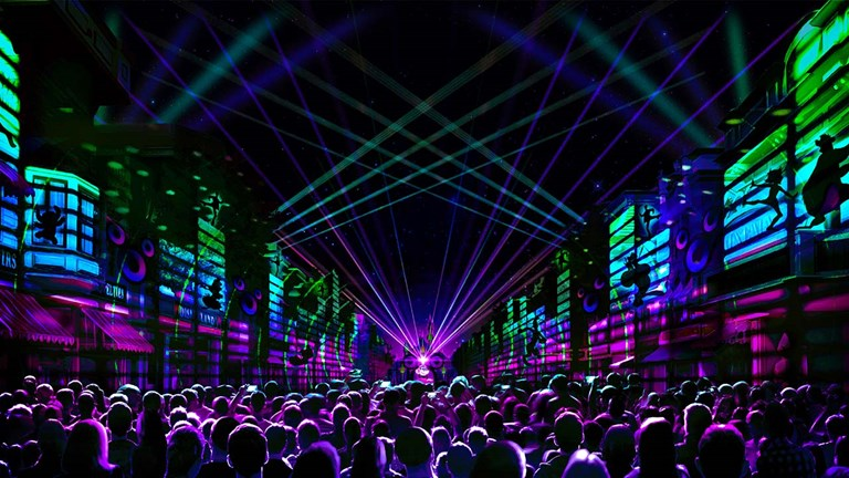 Mickey's Mix Magic will feature all-new music, projections and lasers that will set the scene for an epic dance party that takes over the entire park.