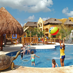 <p>The kids pool at Iberostar Paraiso Lindo is a favorite of both travel agents and clients.</p><p>Feature image (above): Kids at Dreams Tulum enjoy...