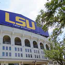 "<p>Louisiana State University's stadium, which is also known as ""Death Valley,"" once contained dormitories. // © 2016 Samantha..."