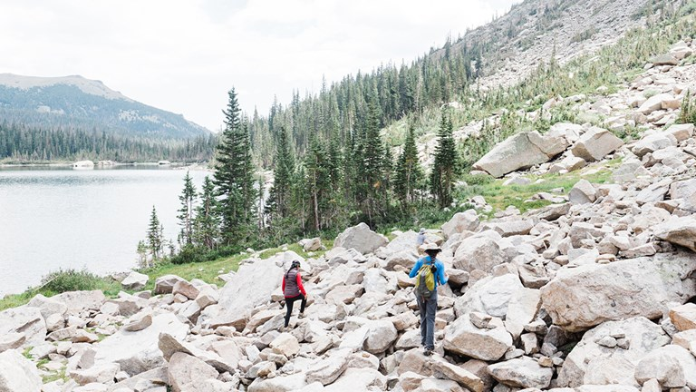 Hiking the Continental Divide National Scenic Trail.