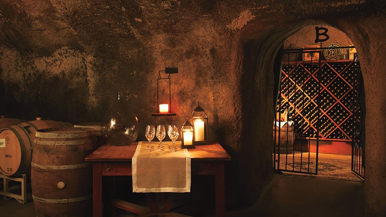 A 30-minute tour through Beringer's wine caves includes tastings for clients over 21.