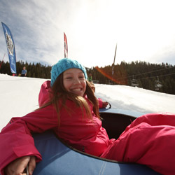 <p>SnoVentures Activity Zone offers snow tubing and a track for mini snowmobiles. // © 2015 Squaw Valley</p><p>Feature image (above): Squaw Valley Ski...