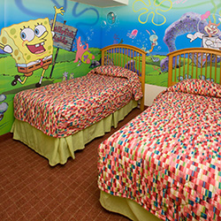 <p>Children can sleep among their favorite Nickelodeon characters at Nickelodeon Hotel. // © 2015 Nickelodeon Suites Resort</p><p>Feature image...