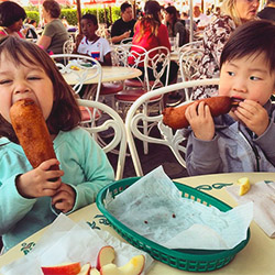 <p>Take a break between rides and snack on straight-from-the-fryer corn dogs or beignets. // © 2015 Chelsee Lowe</p><p>Feature image (above): Visit...