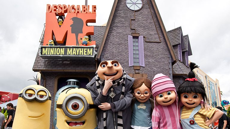 Despicable Me Minion Mayhem can be found in both Hollywood and Orlando.
