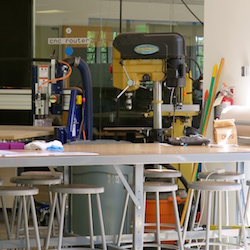 <p>The school's innovation lab, Inworks, provides students with space to work on solving worldwide problems. // © 2015 Samantha Davis...