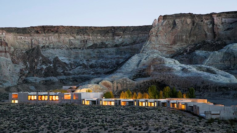 Amangiri is surrounded by Utah's wilderness.