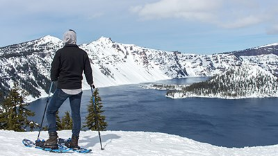 Been There, Do This: Snowshoeing at Crater Lake National Park in Oregon